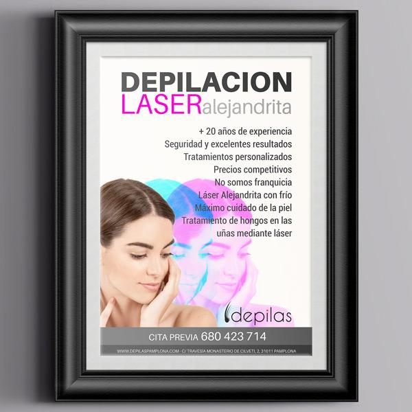 Poster Depilas Pamplona