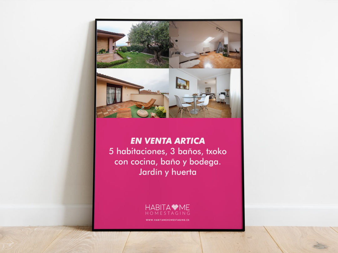 Cartel Habítame Homestaging 2